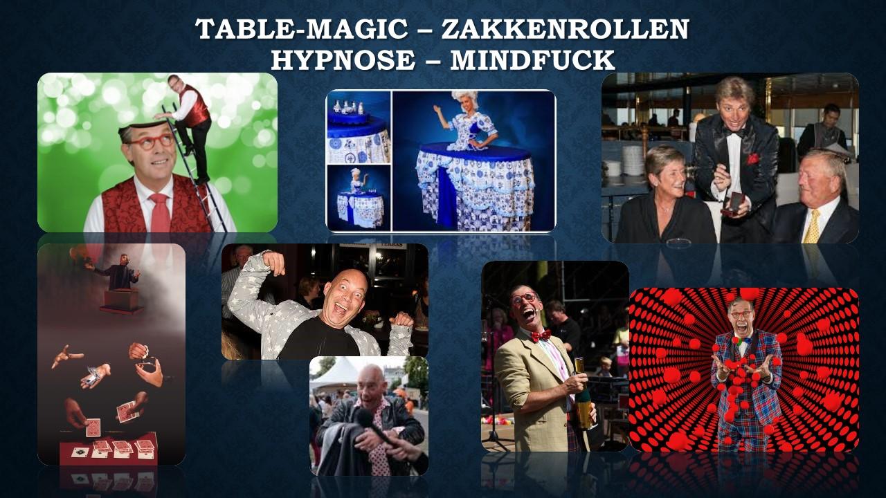 Table Magic Zakkenrollen hypnose mindfuck