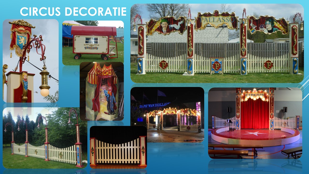 Circus decoratie en decors