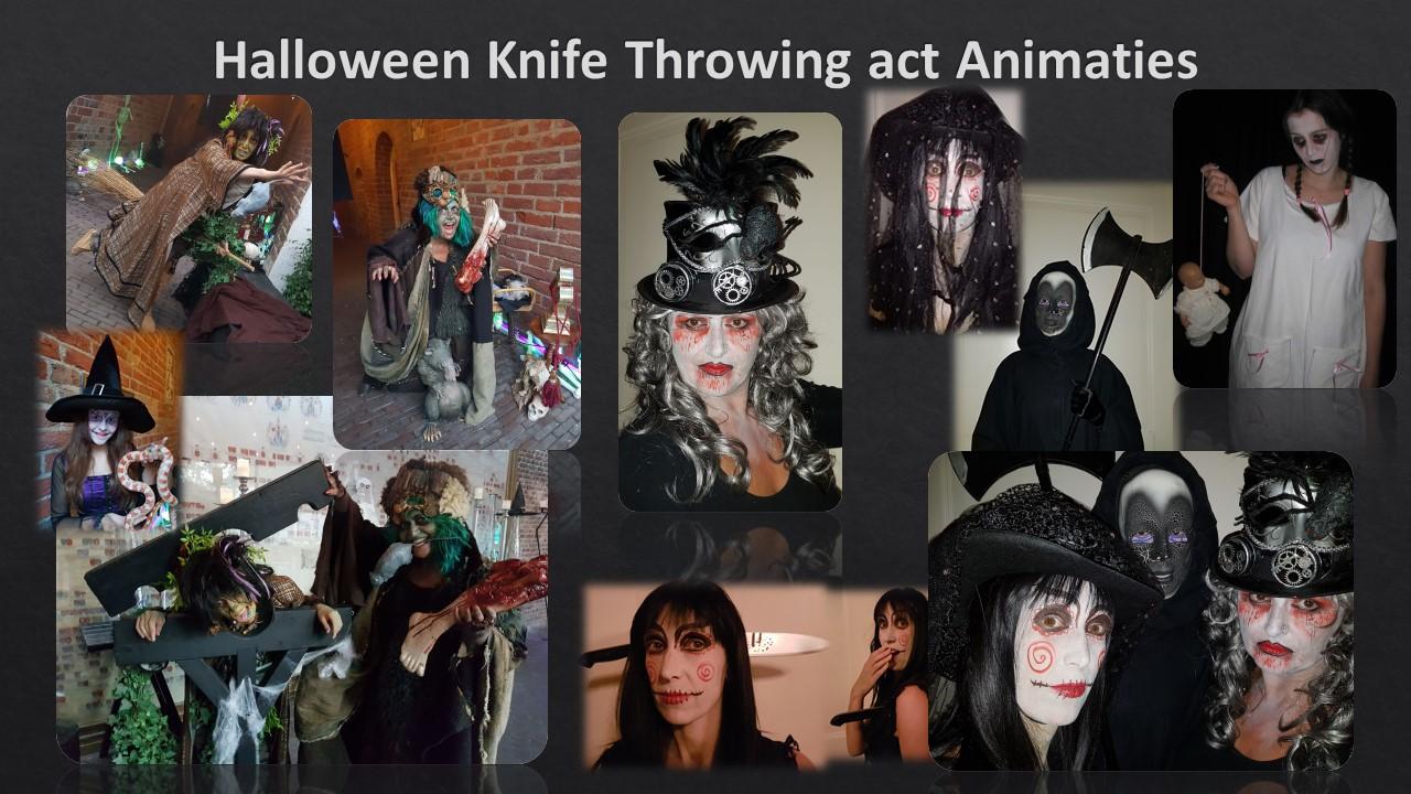 Halloween Knifethrowing en Animaties