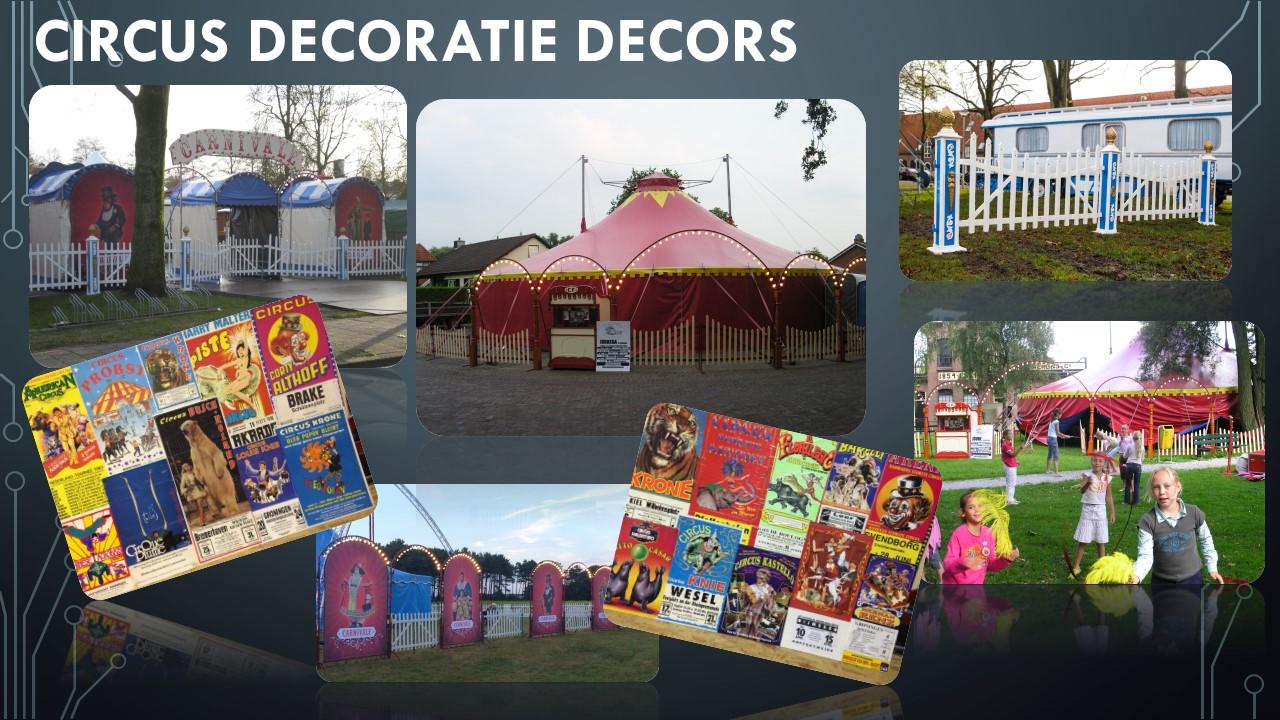 Circus Decoratie Decors Verhuur